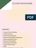 Family Welfare Programme