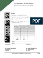 Ujian Sumatif 1 Mac Matematik Tingkatan 2
