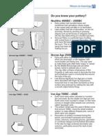 Pottery identification sheet