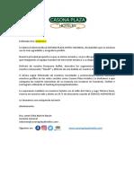 Modelo de Carta Bienvenida