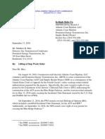 9/17/18 FERC Dominion Atlantic Coast Pipeline Letter