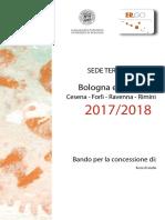 Bando Borsa Di Studio 2017-2018 bologna