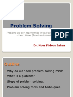 Dr. Noor Session on Problem Solving Aug 2018