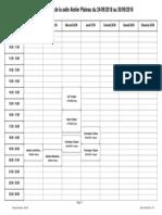Planning Hebdo Atelier Plateau