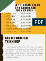 Critical Thinking Dalam Asuhan Kebidanan Ppt