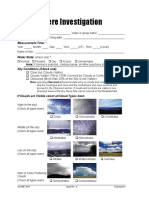 Hydrology Investigation Data Sheet