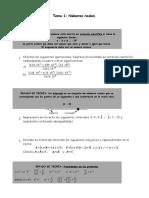 Matemáticas 4º Eso Numeros Reales