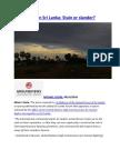 War Crimes in Sri Lanka  Stain or slander.docx