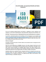 An Introduction to New ISO 45001- Occupational Health and Safety Standards