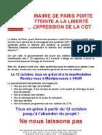 La réforme des retraites à Paris
