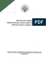 PETUNJUK TEKNIS PENGGUNAAN DANA DESA TAHUN 2018 UNTUK PDAT KARYA TUNAI.pdf