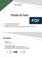 Slide Difusão de gases