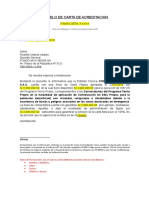 Modelo de Carta de Acreditacion - Reconstrucción