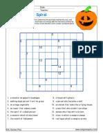 Halloween Wordspiral