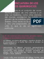 Nomenclatura de Los Actos Quirúrgicos