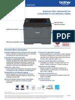 HL-L5100DN Advance Spec Sheet Spanish IMPRESORA LASER EMPRESARIAL.pdf