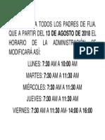 modificacion horario
