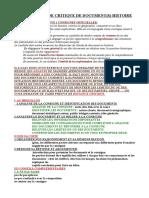 METHODE DE L'ETUDE CRITIQUE D'UN DOCUMENT D'HISTOIRE