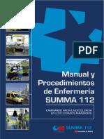Manual y Procedimientos de Enfermerc3ada Summa 112 2012