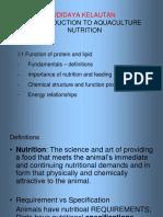Pengenalan Nutrisi Pada Akuakulture
