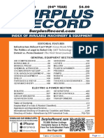 OCTOBER 2018 Surplus Record Machinery & Equipment Directory