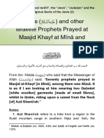 Moses and Other Israelite Prophets Prayed at Masjid Khayf at Mina