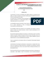 Plan de Contingencia Informático 2019