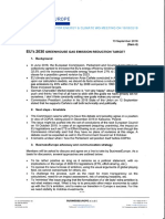 BusinessEurope document on EU 2030 climate change goals