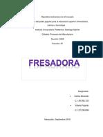 Informe de Fresadora