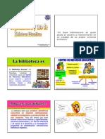 imprimir Organización y uso de bibliotecas educativas