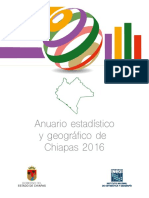 Anuario Estadistico Chiapas 2016