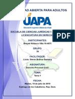 Tarea 1 Derecho Procesal Civil I 10-07-2018