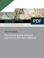 Razones Para Actuar. Una Teoria - John R. Searle