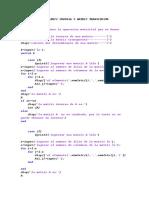 Algoritmo Para Matriz Inversa y Matriz Transpuesta