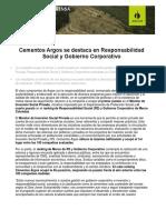 CementosArgossedestacaenResponsabilidadSocialyGobiernoCorporativo