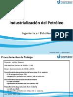 Industrialización Del Petróleo, 1 Clase