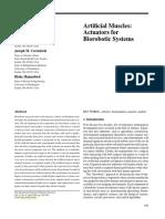 Artificial Muscles - Actuators ForBiorobotic Systems