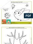 Balance the Birds Coloring Sheets