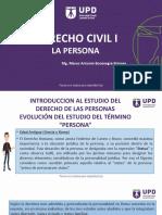 DERECHO CIVIL I  DERECHO DE LAS PERSONAS- SEGUNDA CLASE.pptx