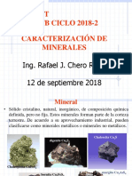 Caracterización de Minerales