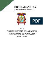 Plan de Estudios 2016-2020