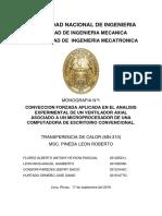 INFORME TRANSFEFERENCIA DE CALOR