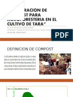 compostaje para el cultivo de tara