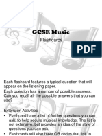 GCSE Music Flashcards