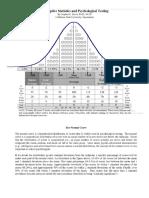descriptive stats and psychological testing scores