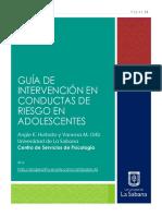 GUÍA DE  INTERVENCIÓN EN CONDUCTAS DE RIESGO EN ADOLESCENTES