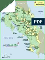 Mapa Parques Nacionales Costa Rica
