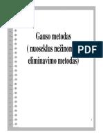 Gauso_metodas