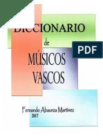 DICCIONARIO DE MÚSICOS VASCOS. Fernando Abaunza
