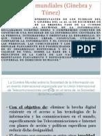 Cumbres Mundiales Ginebra y Tunez